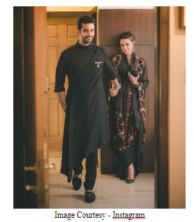 Neha Dhupia with husband Angad
