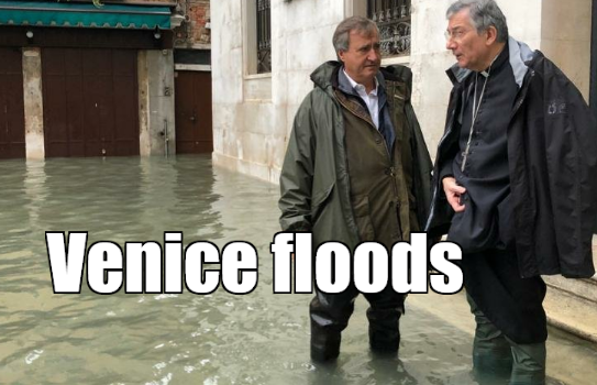 Venice floods - Venice city Italy