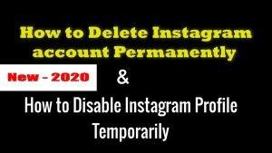 How to delete instagram account - how to delete instagram